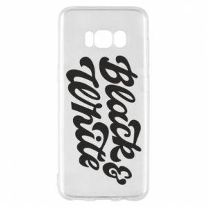 Etui na Samsung S8 Black and white