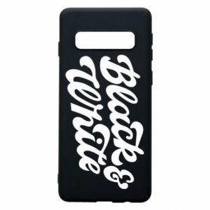 Etui na Samsung S10 Black and white
