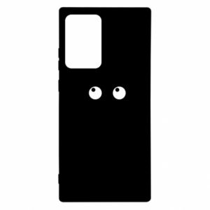 Etui na Samsung Note 20 Ultra Black cat with big eyes is sitting