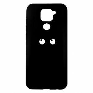 Etui na Xiaomi Redmi Note 9/Redmi 10X Black cat with big eyes is sitting