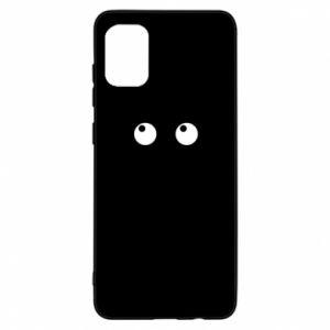 Etui na Samsung A31 Black cat with big eyes is sitting