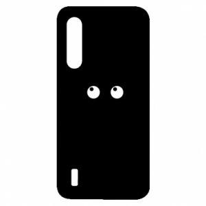 Etui na Xiaomi Mi9 Lite Black cat with big eyes is sitting
