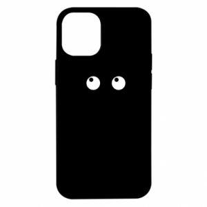 Etui na iPhone 12 Mini Black cat with big eyes is sitting
