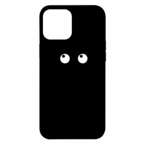 Etui na iPhone 12 Pro Max Black cat with big eyes is sitting