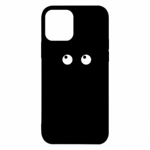 Etui na iPhone 12/12 Pro Black cat with big eyes is sitting