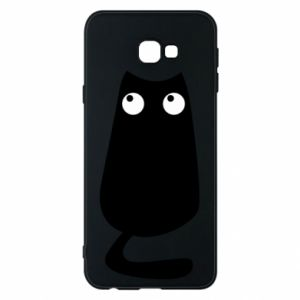 Etui na Samsung J4 Plus 2018 Black cat with big eyes is sitting