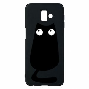Etui na Samsung J6 Plus 2018 Black cat with big eyes is sitting