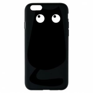Etui na iPhone 6/6S Black cat with big eyes is sitting