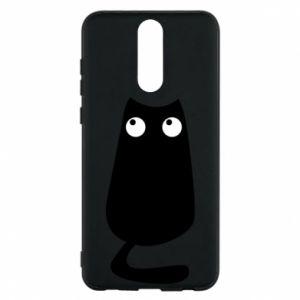 Etui na Huawei Mate 10 Lite Black cat with big eyes is sitting