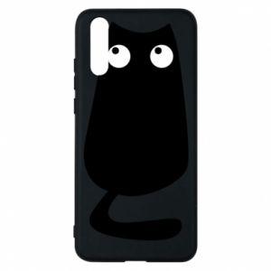 Etui na Huawei P20 Black cat with big eyes is sitting
