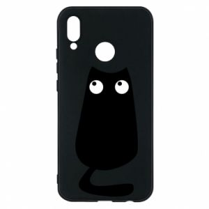 Etui na Huawei P20 Lite Black cat with big eyes is sitting