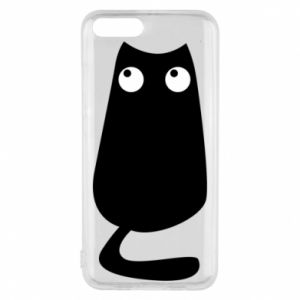 Etui na Xiaomi Mi6 Black cat with big eyes is sitting