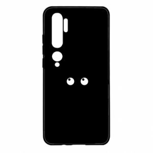 Etui na Xiaomi Mi Note 10 Black cat with big eyes is sitting