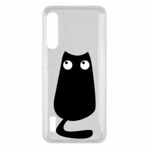 Etui na Xiaomi Mi A3 Black cat with big eyes is sitting