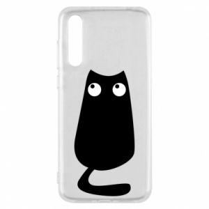 Etui na Huawei P20 Pro Black cat with big eyes is sitting