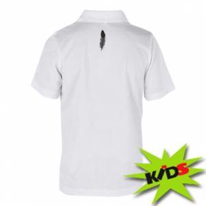 Children's Polo shirts Black feather - PrintSalon