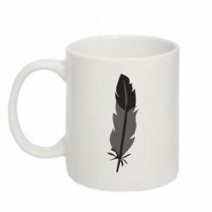Mug 330ml Black feather - PrintSalon