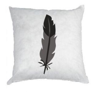 Pillow Black feather - PrintSalon