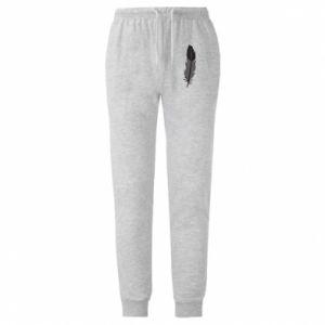Męskie spodnie lekkie Black feather - PrintSalon