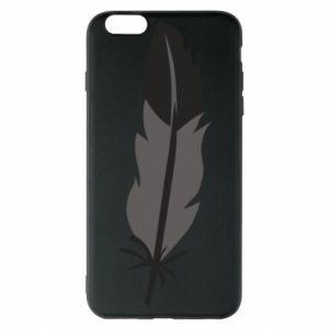 Phone case for iPhone 6 Plus/6S Plus Black feather - PrintSalon