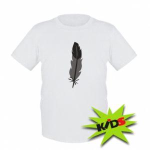 Kids T-shirt Black feather - PrintSalon