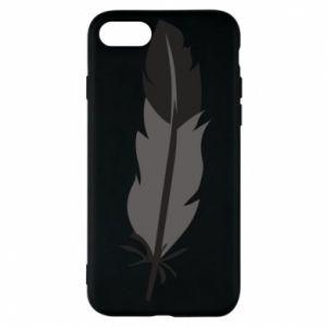 Phone case for iPhone 8 Black feather - PrintSalon