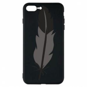 Phone case for iPhone 8 Plus Black feather - PrintSalon