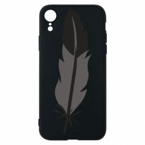 Phone case for iPhone XR Black feather - PrintSalon