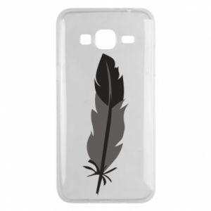 Phone case for Samsung J3 2016 Black feather - PrintSalon