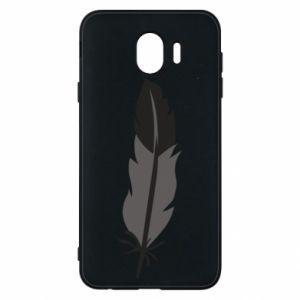 Phone case for Samsung J4 Black feather - PrintSalon
