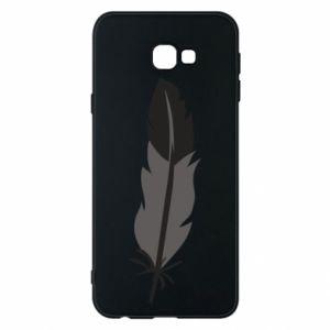 Phone case for Samsung J4 Plus 2018 Black feather - PrintSalon