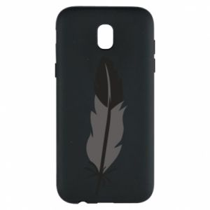 Phone case for Samsung J5 2017 Black feather - PrintSalon