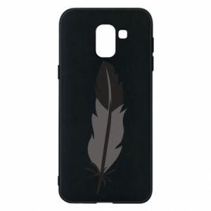 Phone case for Samsung J6 Black feather - PrintSalon
