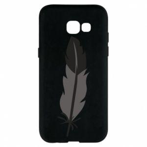 Phone case for Samsung A5 2017 Black feather - PrintSalon