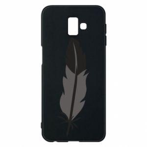 Phone case for Samsung J6 Plus 2018 Black feather - PrintSalon