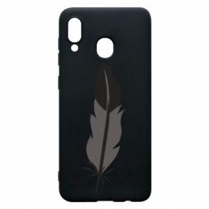Phone case for Samsung A20 Black feather - PrintSalon