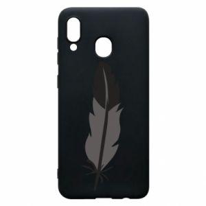 Phone case for Samsung A30 Black feather - PrintSalon