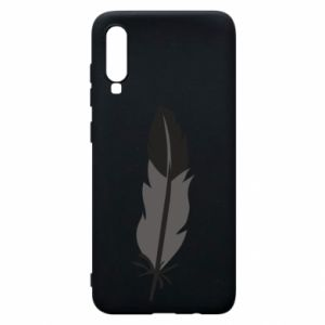 Phone case for Samsung A70 Black feather - PrintSalon