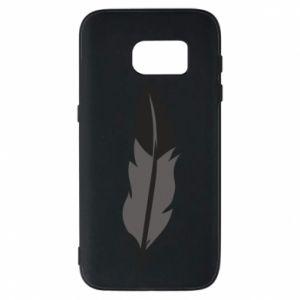 Phone case for Samsung S7 Black feather - PrintSalon
