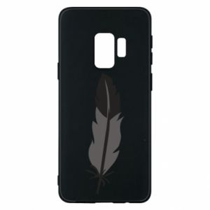 Phone case for Samsung S9 Black feather - PrintSalon
