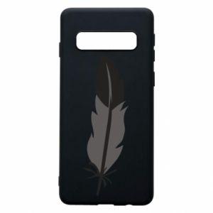 Phone case for Samsung S10 Black feather - PrintSalon