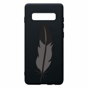 Phone case for Samsung S10+ Black feather - PrintSalon