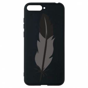 Phone case for Huawei Y6 2018 Black feather - PrintSalon