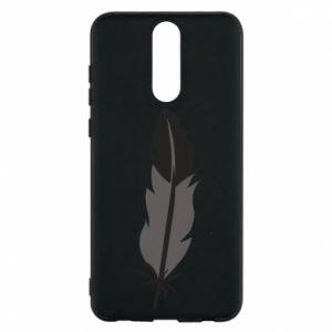Phone case for Huawei Mate 10 Lite Black feather - PrintSalon
