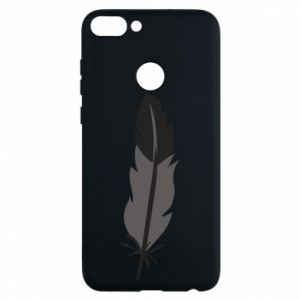Phone case for Huawei P Smart Black feather - PrintSalon