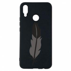 Phone case for Huawei P Smart Plus Black feather - PrintSalon