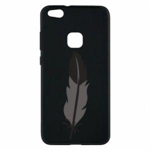 Phone case for Huawei P10 Lite Black feather - PrintSalon