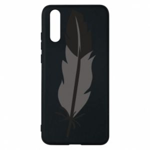 Phone case for Huawei P20 Black feather - PrintSalon