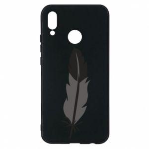 Phone case for Huawei P20 Lite Black feather - PrintSalon