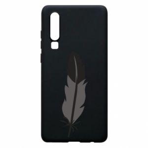 Phone case for Huawei P30 Black feather - PrintSalon